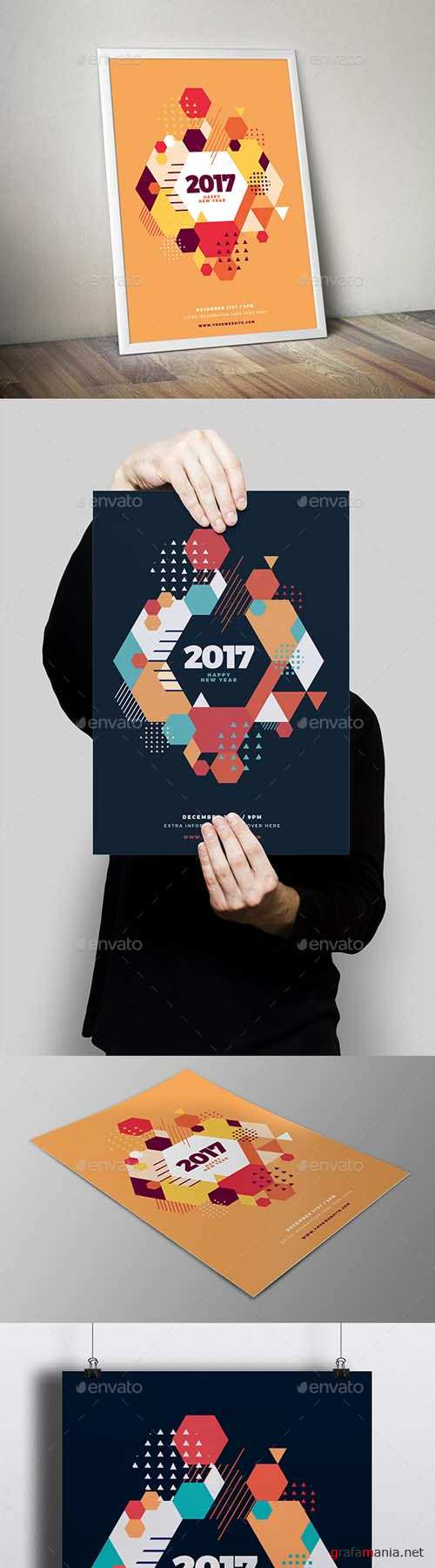 Happy New Year 2017 Party Flyer 19083681