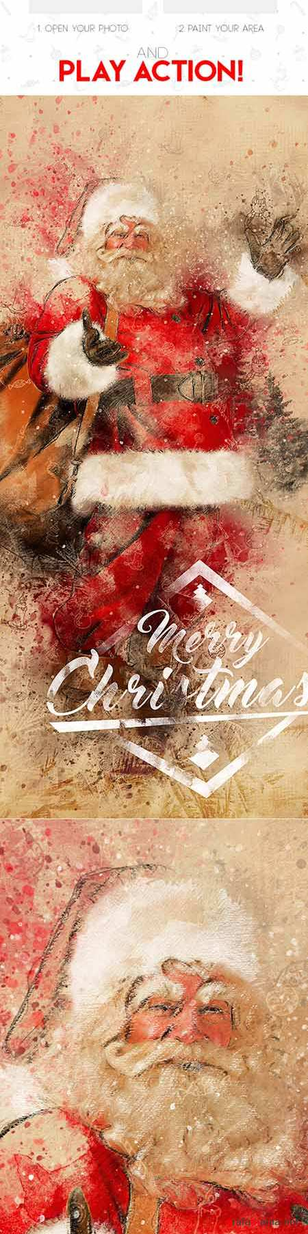 GraphicRiver - Christmas 3 Photoshop Action 19160464