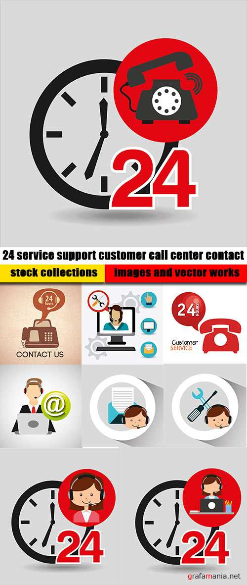 24 service support customer call center contact