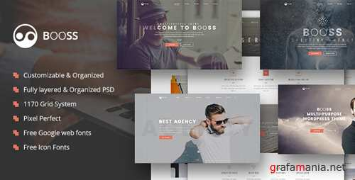 Booss | Creative Multipurpose Marketing PSD Template 16920726