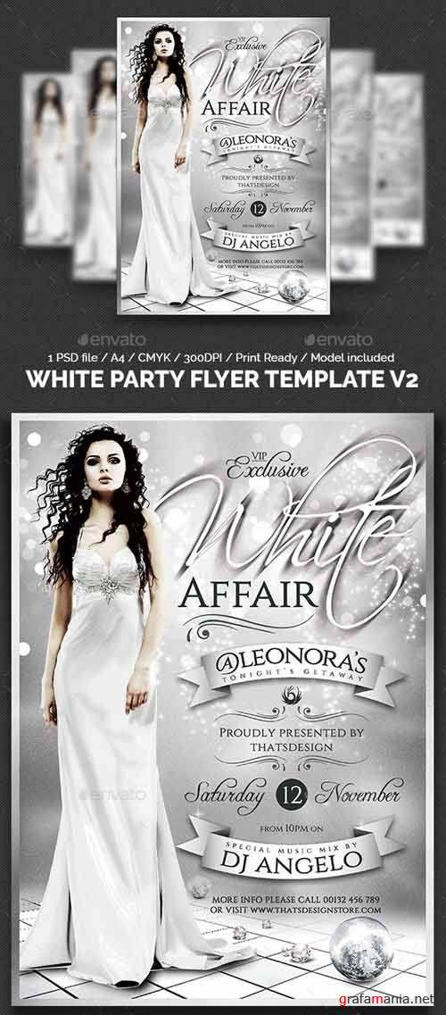 White Party Flyer Template V2 - 13327897
