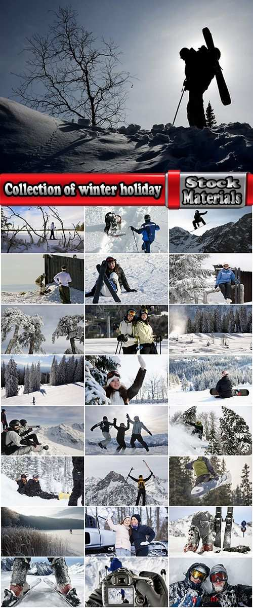 Collection of winter holiday holidays snow forest ski snowboard 25 HQ Jpeg