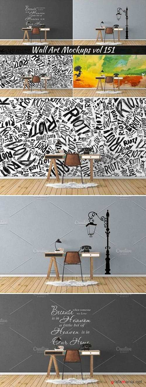 Wall Mockup - Sticker Mockup Vol 151 - 1103154