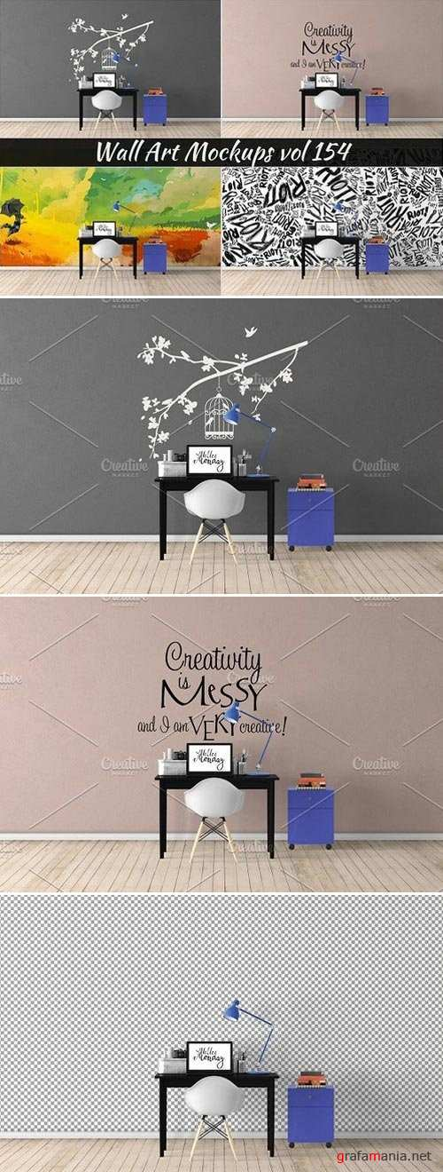 Wall Mockup - Sticker Mockup Vol 154 - 1104097
