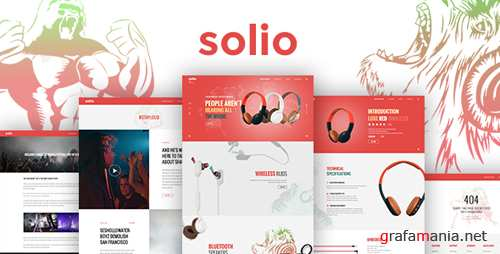 SOLIO - Music Brand Headset PSD Template 17382387