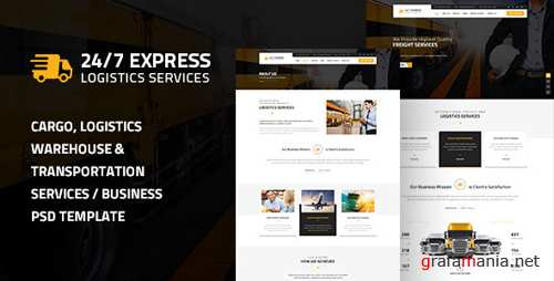24/7 Express Logistics Services PSD 14578835
