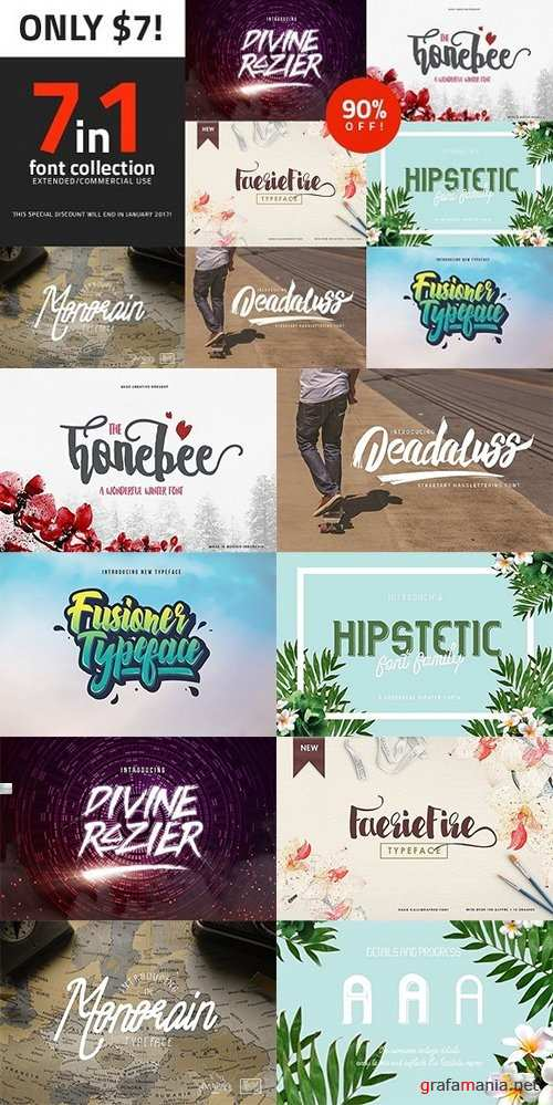 7in1 Fonts - 1146942