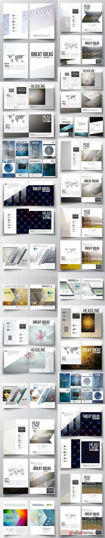 Cover design template, magazine, flyer, booklet or annual report 3 - 20xEPS Vector Stock