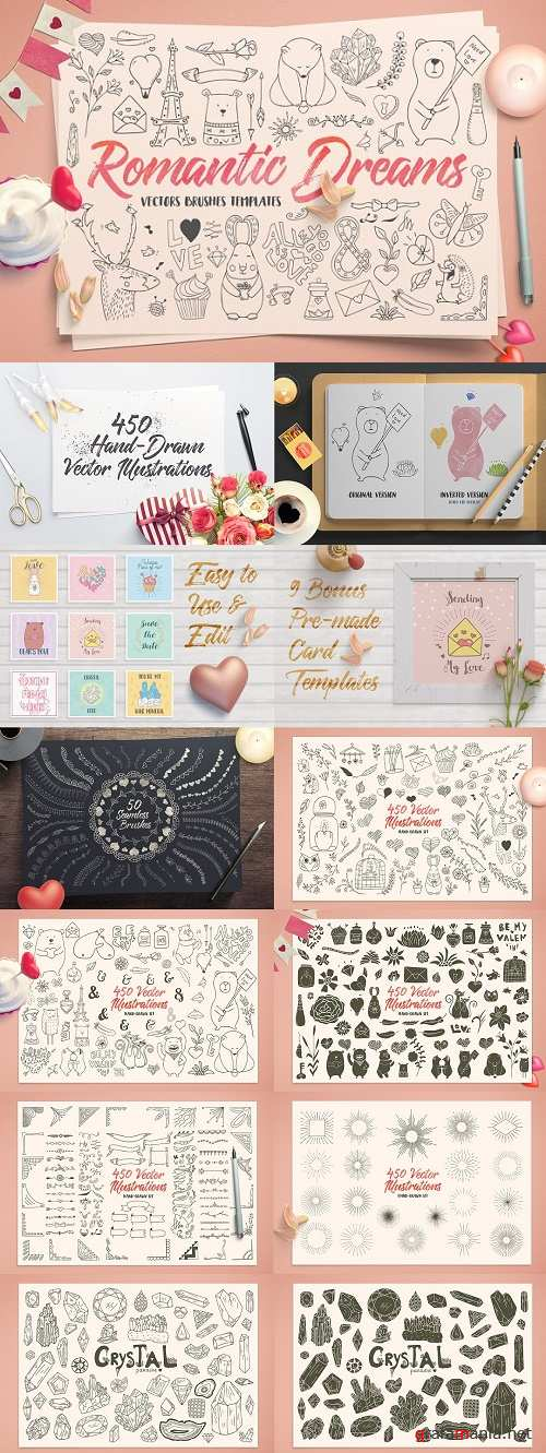 Romantic Dreams Graphic Pack - 1142785