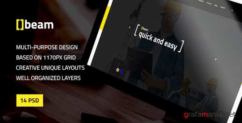 Beam — Modern Multipurpose PSD Template for Construction Business 16747647