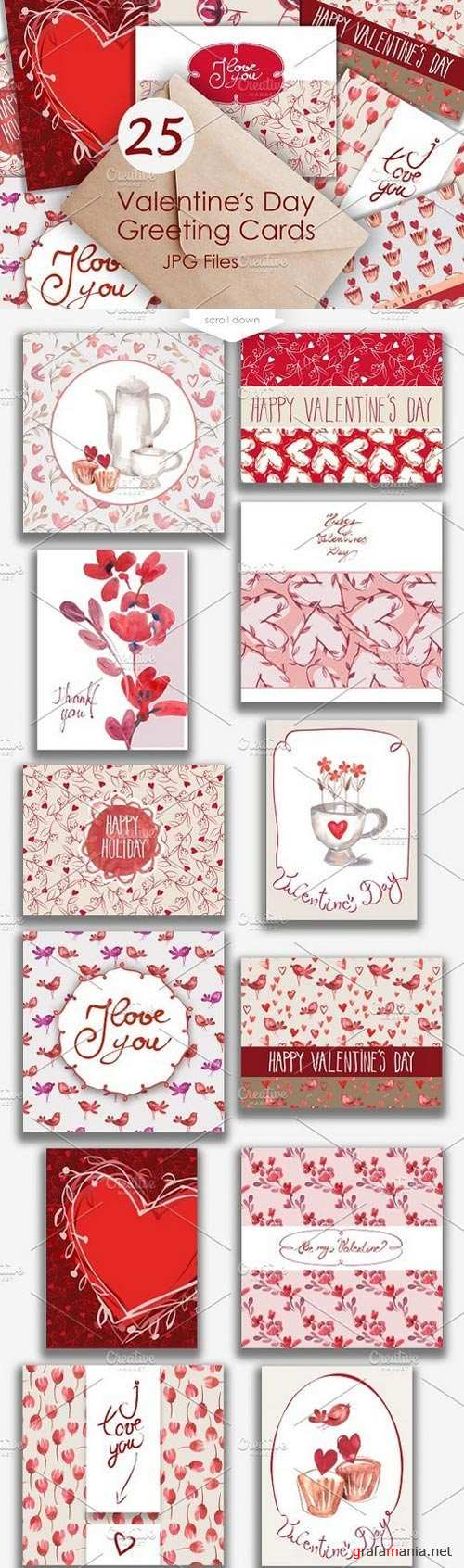 25 Valentines Day Greeting Card - 1049506