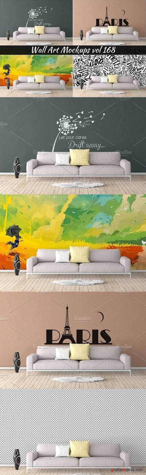Wall Mockup - Sticker Mockup Vol 168 1115471