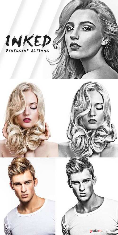 Inked Photoshop Actions - 768471