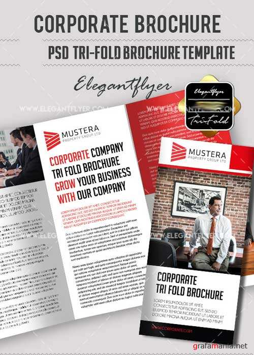 Corporate PSD V11 Tri-Fold Brochure Template
