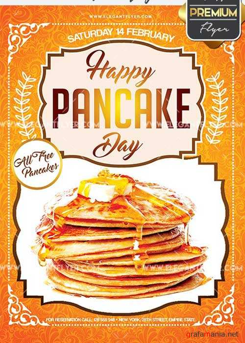 Pancake Day Flyer PSD V2 Template + Facebook Cover