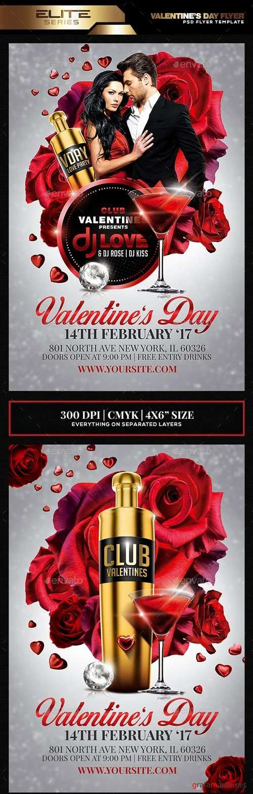 Valentine's Day Flyer Template - 19270355