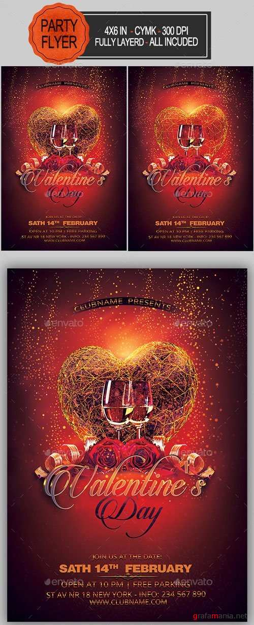 Valentines Party Flyer - 19270040