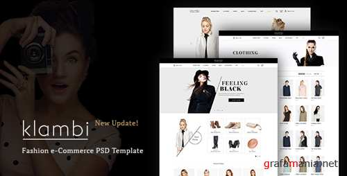 Klambi e-Commerce Fashion Template PSD 16574731