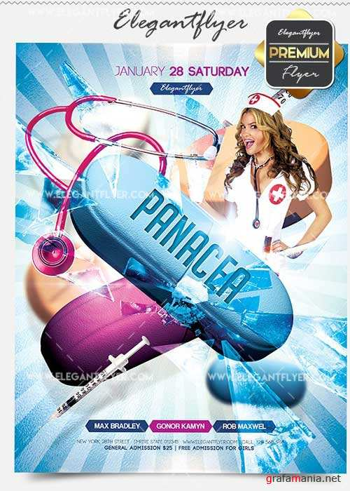 Panacea Party Flyer PSD V02 Template + Facebook Cover