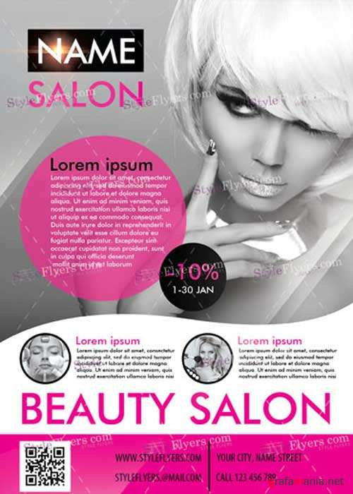 Beauty Salon PSD V11 Flyer Template