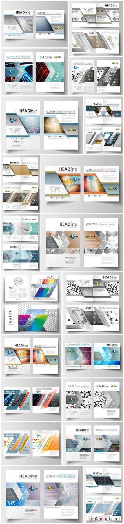Cover design template, magazine, flyer, booklet or annual report 5 - 20xEPS Vector Stock