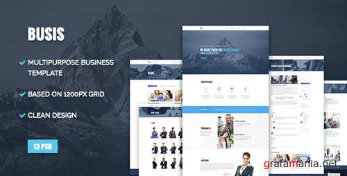 Busis - Clean Multipurpose Business & Corporate PSD Template 16470434