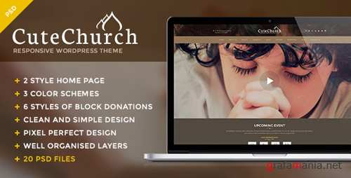CuteChurch - Religion PSD Theme 11754032