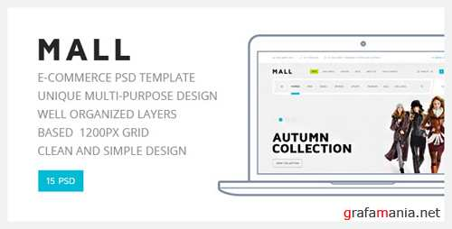 Mall - Multi-Purpose eCommerce PSD Template 13080550