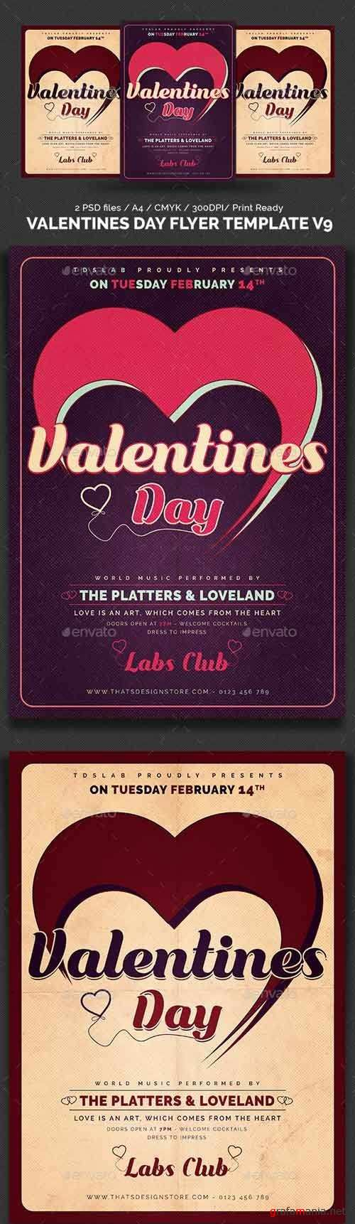 Valentines Day Flyer Template V9 - 1168094