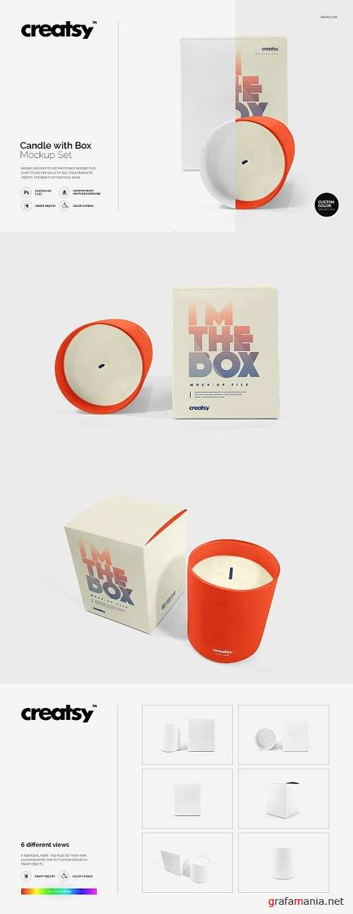 Candle with Box Mockup - 1152465