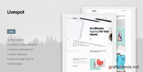 Livespot - Creative Agency PSD Theme 15015949