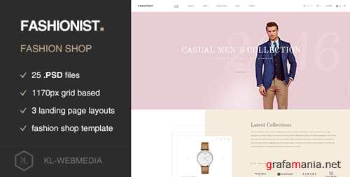 Fashionist - Fashion eCommerce PSD template 17224729