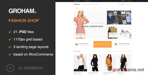 Groham - Fashion eCommerce PSD template 16924833