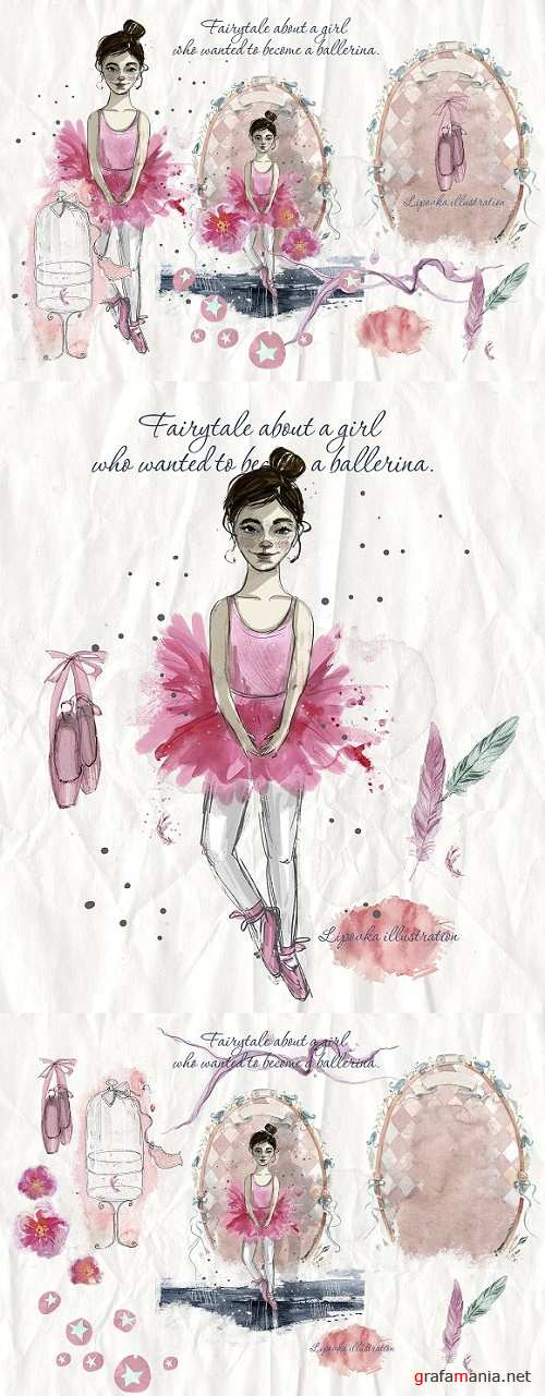 Ballet. Watercolor collection - 963833