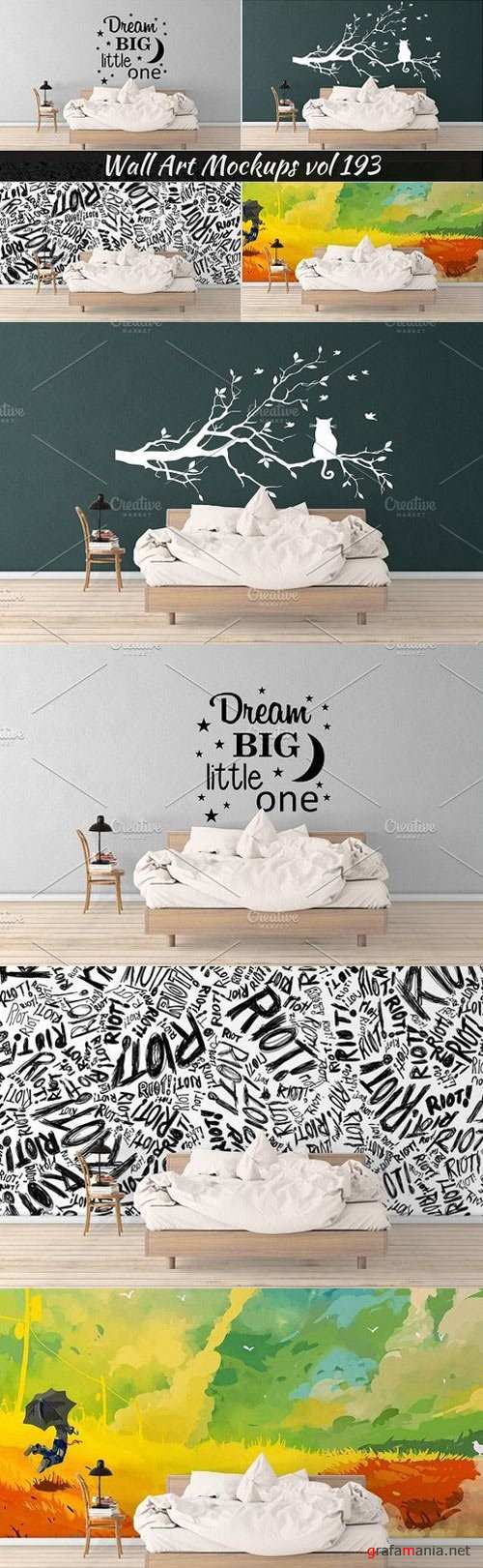 Wall Mockup - Sticker Mockup Vol 193 - 1121559