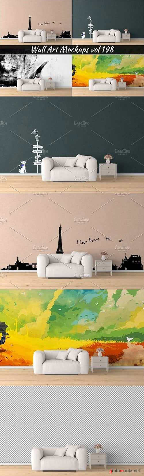 Wall Mockup - Sticker Mockup Vol 198 - 1123632