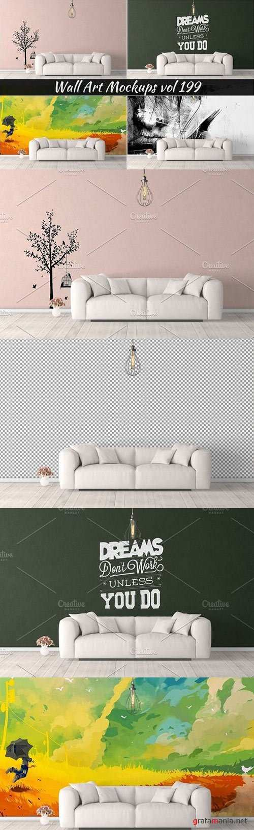 Wall Mockup - Sticker Mockup Vol 199 -1123635
