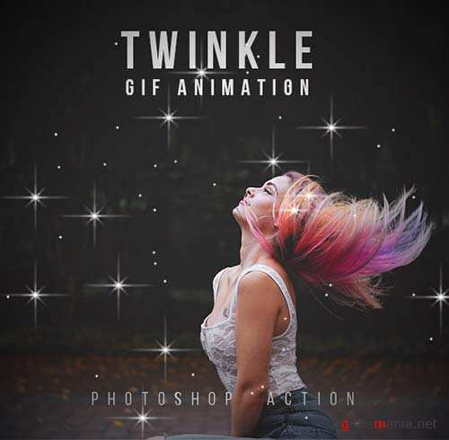 GraphicRiver Twinkle Gif Animation Photoshop Action