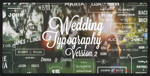 Wedding Typography Titles – Version 2 - Project for After Effects (Videohive)