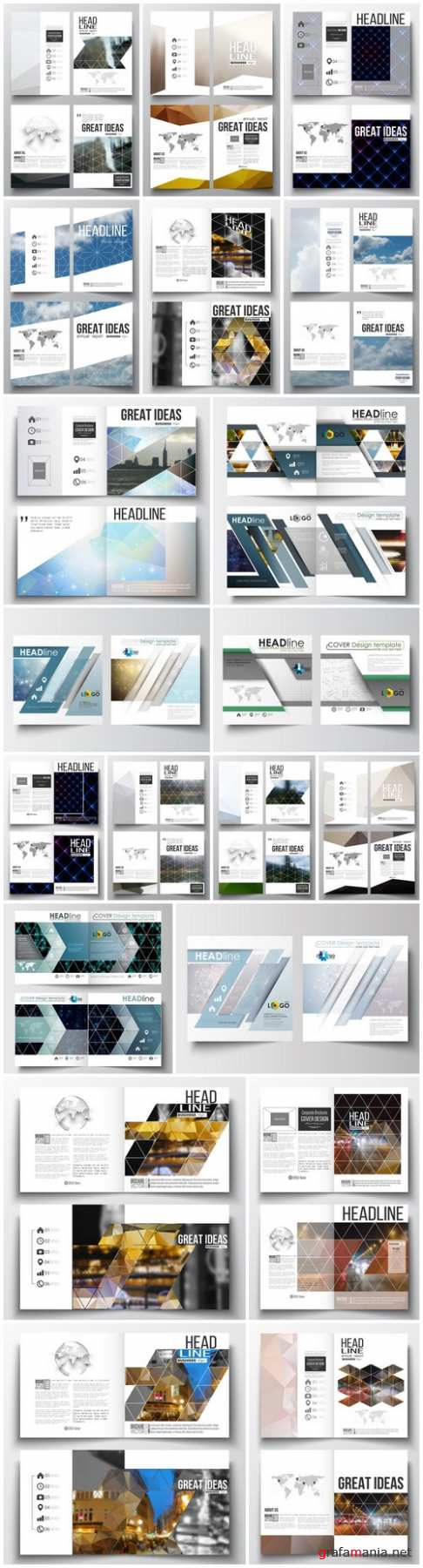 Cover design template, magazine, flyer, booklet or annual report 6 - 20xEPS