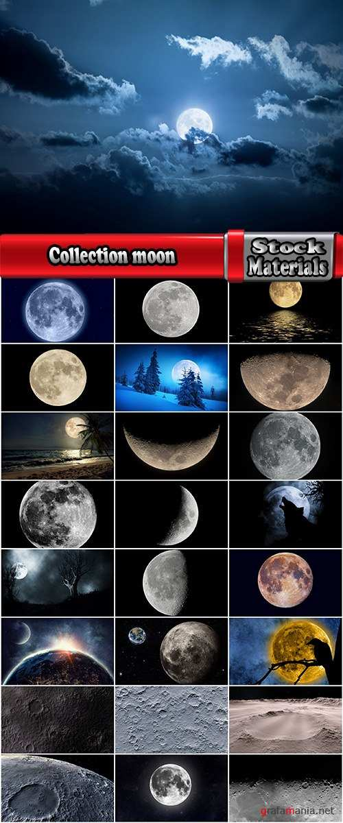 Collection moon planet space moon crater 25 HQ Jpeg