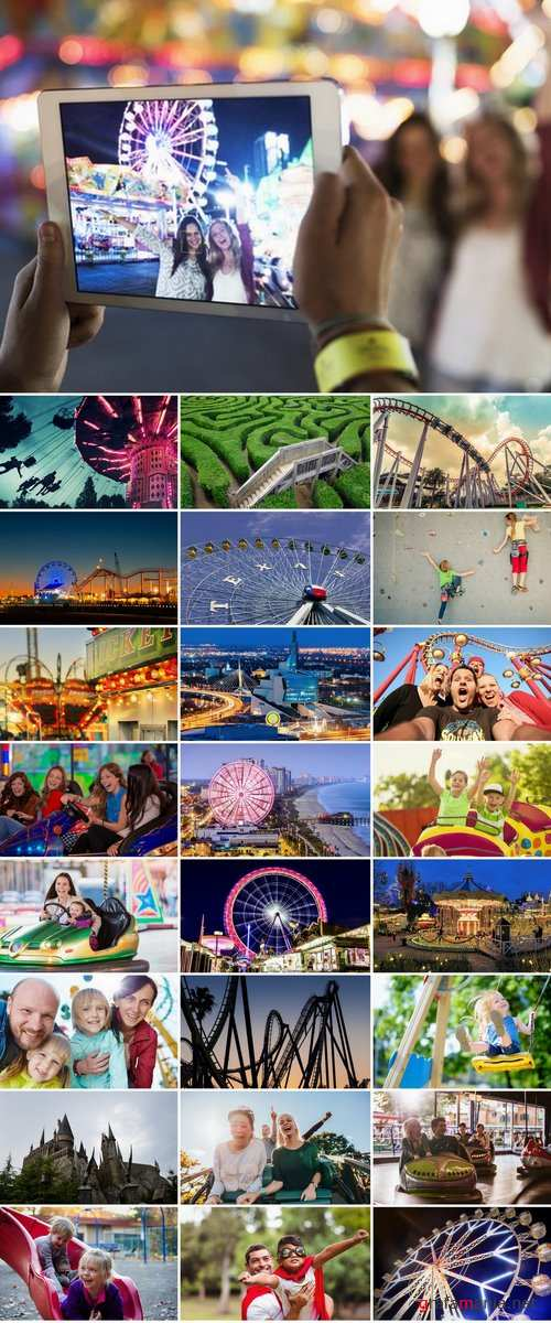 Collection of amusement park fun vacation holiday roller coaster 25 HQ Jpeh