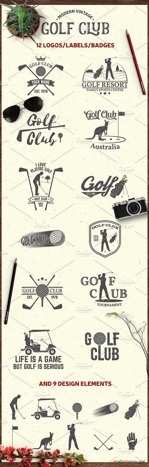 Set of Vintage Golf Club Emblems - 1140724