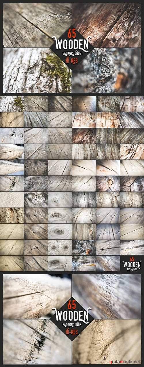 Wooden Backgrounds - Big Set - 1158168