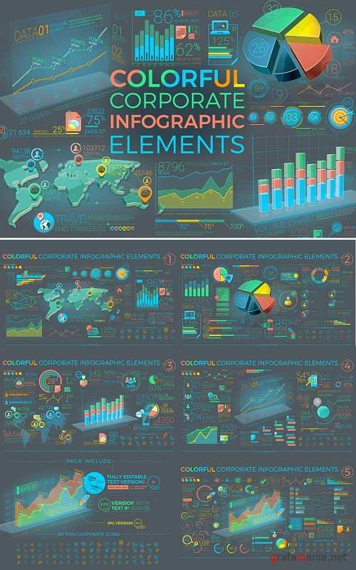 Colorful Corporate Infographics - 1169317
