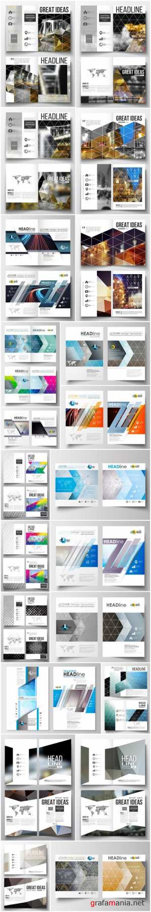 Cover design template, magazine, flyer, booklet or annual report 7 - 24xEPS Vector Stock