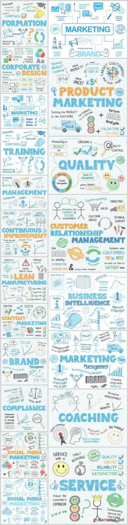 Sketch Notes Business Design 4 - 20xAI Vector Stock