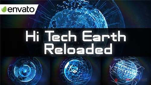 Hi Tech Earth Reloaded / Element 3D - After Effects Project (Videohive)