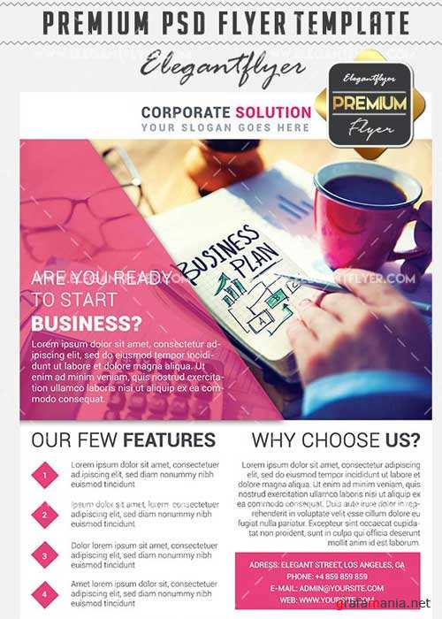 Corporate Flyer Business Flyer PSD V5 Template + Facebook Cover