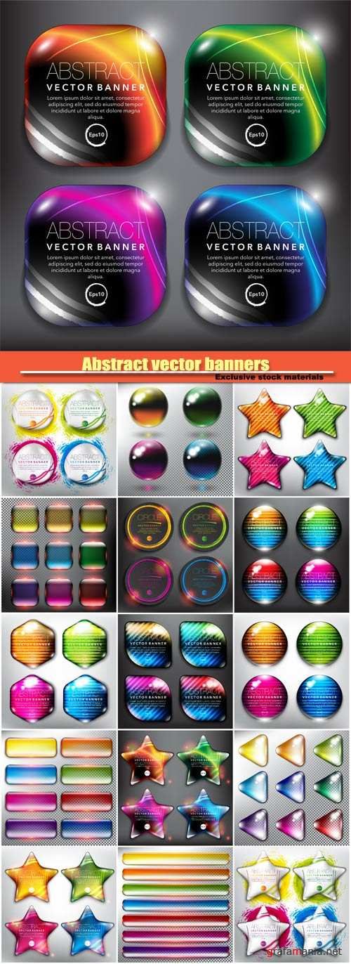 Abstract vector banners with effect it shine